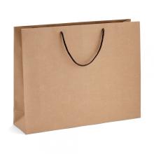 Custom printed brown kraft paper shopping bag