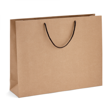 Sac shopping en papier kraft brun imprimé sur mesure