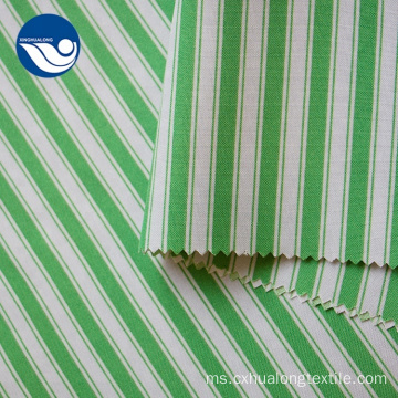 Stripe Hijau Kain 100% poliester Mini Fabric Matt