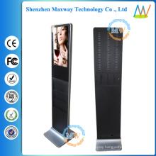Slim type 21.5 inch floor standing retail advertising display