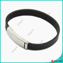 Bracelet en cuir véritable fermoir en acier inoxydable (LB)