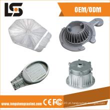 Abajur LED para fundição de alta potência e acessórios para carcaça de iluminação pública