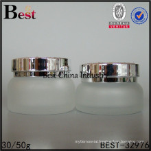 wholesale amber frosted glass bottle 30ml 50ml cream packaging