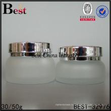 оптовая Янтарный матовый стеклянный флакон 30мл 50мл упаковка крем
