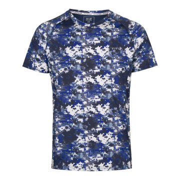 Mosaïque de t-shirt coupe sèche évacuant l'humidité