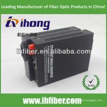 10/100 / 1000M Convertisseur de fibre optique à double fibre FC SM