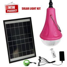 Linterna solar con cargador de móvil Solar Powered Linterna que acampa con el Panel Solar 12W