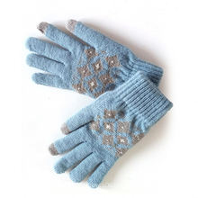 Fashion Acrylic Gloves,Knitted  Gloves Manufacture Cheap Winter Knit Gloves for outdoor use