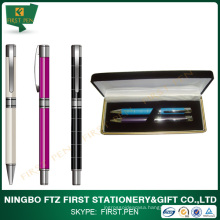 First TY401 Elegant Colorful Brass Barrel Metal Pen Set For Gift Choice