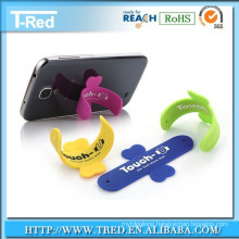 touch-u silicone phone stand with all kinds of color with retails package