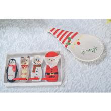 Bulk Custom Food Serviertablett Keramik Weihnachten dekorative Teller