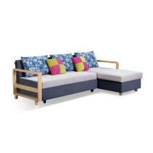 Sofá cama moderno de la tela de la esquina