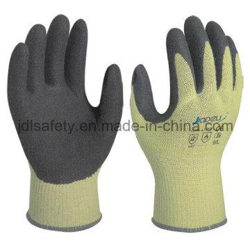 Calor trabajo contacto con guante con nitrilo Sandy capa (NK3033)