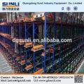 High Density Radio Shuttle Drive In Metal Storage Racking