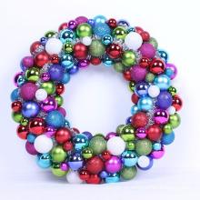 40cm Guirnalda colorida de la bola de la Navidad con Tinsel