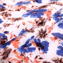 Flora Printed Dress 100 Viscose Spandex Crepe Cloth