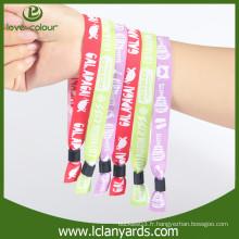 Bracelets personnalisés personnalisés personnalisés en tissu jetable pour l'activité