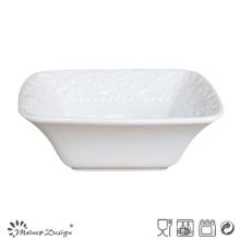 Couleur blanche du bol carré en céramique