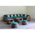 Splendid Sofa Set Weaved of Natural Material - Water Hyacinth Wiker For Indoor Use