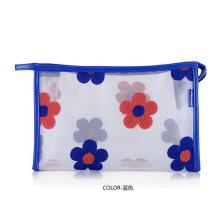 Bolsa feminina para cosméticos em PVC transparente com estampa de flores (YKY7533-4)