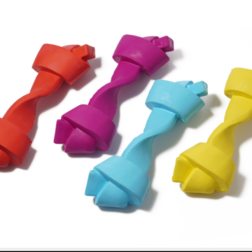 Ungiftiges Zahnreinigungsspielzeug aus Naturkautschukknochen