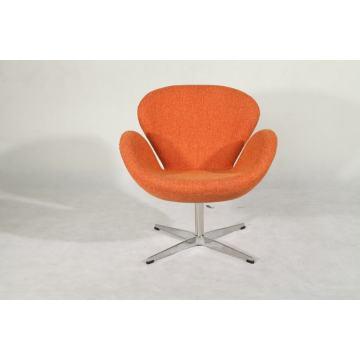 cadeira de cisne para móveis clássicos em tecido de lã