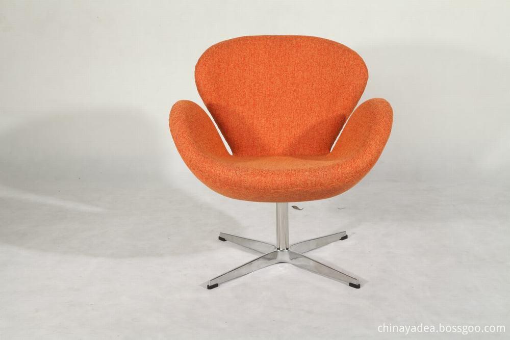swan chair in woolen fabric