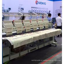 Máquina principal do bordado 6 para o vestuário terminado Wy906 / 1206c do t-shirt do tampão