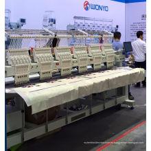 6 máquina principal del bordado para la camiseta del casquillo terminó las prendas de vestir Wy906 / 1206c