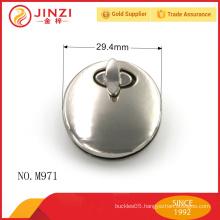 Round shape lock nickle color lock bag parts