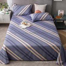 Made in China Bed Sheet Set Modern Design Cotton Printed Single Striped Bedding Set