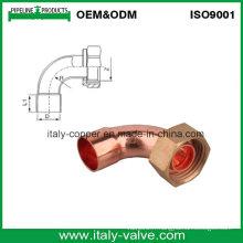 ANSI B16.22 Coffrage en cuivre U avec capuchon en laiton / connecteur en cuivre (AV8009)