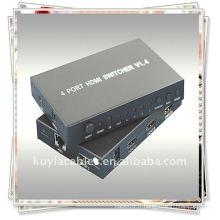 Commutateur HDMI 4x1 V1.4 (1. Connectez un câble de chaque source HDMI aux entrées HDMI Switcher)