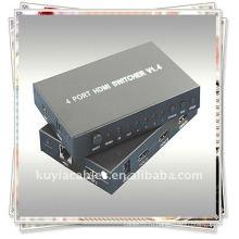HDMI 4x1 Switcher V1.4 (1. Подключите один кабель от каждого источника HDMI к входу HDMI Switcher)