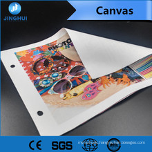Stretched 0.61m*30m canvas inkjet paper for Pigment Inks Printing