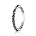 1 Row Diamond Простой дизайн 925 Серебряное кольцо Ювелирные изделия