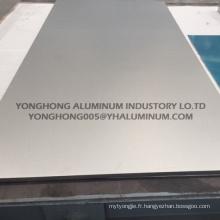 5052 feuille d'aluminium anodisé argent naturel pour mur, panneaux de signalisation