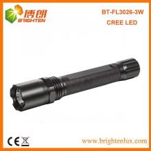 Bulk Sale CE Rohs алюминиевый кри 3W супер яркий полиции привели фонарик с 2AA батареи