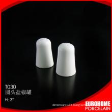 Eurohome restaurant or home use fine china porcelain salt pepper shaker