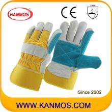 Сдвоенные перчатки для рук из натуральной кожи Palm Cowhide Split (110151)