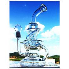 Hb-K51 Recycler Inline Perc Unregelmäßiger Brunnen Form Glas Rauchen Wasser Rohr