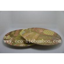 (BC-P1008) Hot-Sell Placa de fibra de bambu Eco Eco com impressão