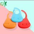 Personalizado Maravilloso Color Impermeable Suave Silicona Bebé Baberos