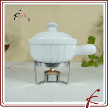 Réchauffeur de beurre en porcelaine en céramique