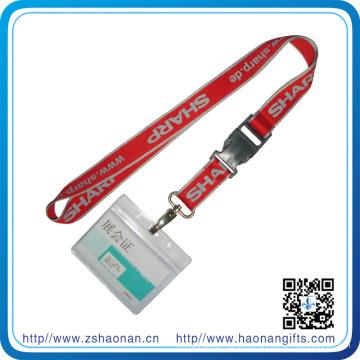 Silk Screen Printing ID Card Holder Lanyard with Metal Hook/Adjustic Buckle