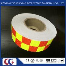Fita de material refletivo de PVC de design de grade de duas cores por atacado