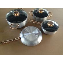 Venta caliente de aluminio de aluminio antiadherente utensilios de cocina