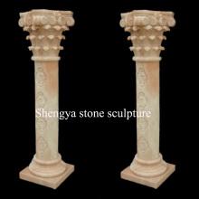 Beige Marmorsäule Stein-Skulptur (SY-C024)