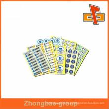 O OEM e aceita a ordem feita sob encomenda etiquetas adesivas da etiqueta adesiva com preço do competidor