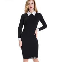 Autumn Women Work Dress Fit Business Office Pencil Bodycon MIDI Dress